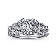 Bryce 14k White Gold Round Straight Engagement Ring