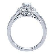 Cabata 14k White Gold Round Double Halo Engagement Ring angle 2