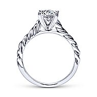 Cali 14k White Gold Round Solitaire Engagement Ring angle 2