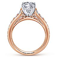Cameron 14k White And Rose Gold Round Straight Engagement Ring angle 2