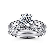 Campanula 18k White Gold Round Solitaire Engagement Ring angle 4