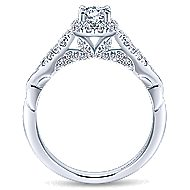 Canvas 14k White Gold Round Halo Engagement Ring angle 2