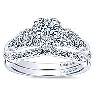 Canvas 14k White Gold Round Halo Engagement Ring angle 4