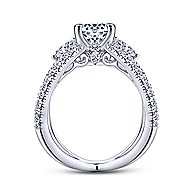 Cara 14k White Gold Round 3 Stones Engagement Ring