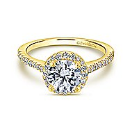 Carly 14k Yellow Gold Round Halo Engagement Ring
