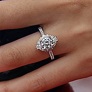 Carrington 14k White Gold Round Halo Engagement Ring
