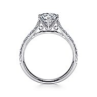 Casey 14k White Gold Round Straight Engagement Ring angle 2