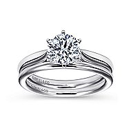 Cassie 14k White Gold Round Solitaire Engagement Ring