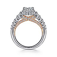 Cecilia 14k White And Rose Gold Round Straight Engagement Ring