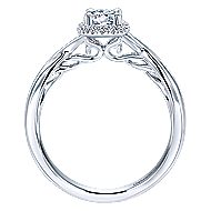 Celeste 14k White Gold Round Halo Engagement Ring angle 2