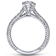 Cerulean 14k White Gold Round Straight Engagement Ring angle 2