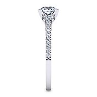 Chantal 14k White Gold Princess Cut 3 Stones Engagement Ring angle 5