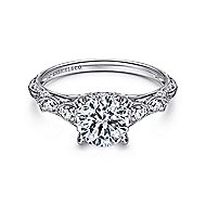 Chelsea 18k White Gold Round Straight Engagement Ring