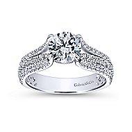 Chessie 14k White Gold Round Straight Engagement Ring angle 5