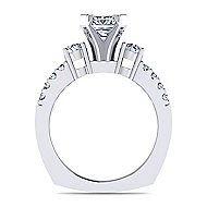 Chloe 14k White Gold Princess Cut 3 Stones Engagement Ring angle 2