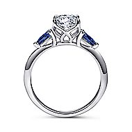 Cleo 18k White Gold Round 3 Stones Engagement Ring angle 2