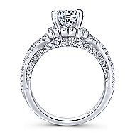 Clyde 18k White Gold Round Split Shank Engagement Ring angle 2