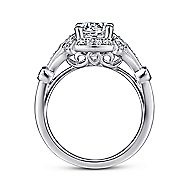 Columbus 14k White Gold Round Halo Engagement Ring