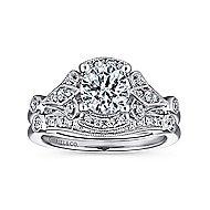 Columbus 14k White Gold Round Halo Engagement Ring