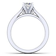 Cora 14k White Gold Round Solitaire Engagement Ring angle 2
