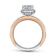 Corbin 18k White And Rose Gold Round Halo Engagement Ring