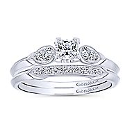 Cordelia 14k White Gold Princess Cut Straight Engagement Ring angle 4