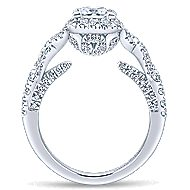 Corinthia 14k White Gold Princess Cut Halo Engagement Ring angle 2