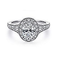 Cortlandt 14k White Gold Oval Halo Engagement Ring angle 1