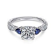 Cruz Platinum Round 3 Stones Engagement Ring
