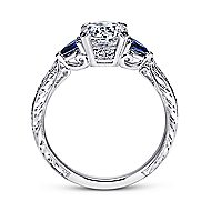 Cruz Platinum Round 3 Stones Engagement Ring angle 2