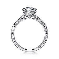 Dane Platinum Round Straight Engagement Ring angle 2