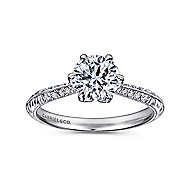 Dane Platinum Round Straight Engagement Ring angle 5