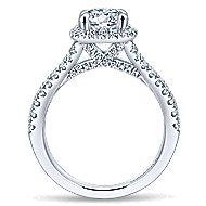 Danica 14k White Gold Round Halo Engagement Ring angle 2