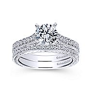 Dee 14k White Gold Round Straight Engagement Ring angle 4