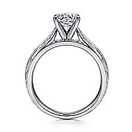 Della 14k White Gold Round Solitaire Engagement Ring angle 2