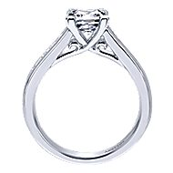Denita 18k White Gold Princess Cut Straight Engagement Ring angle 2