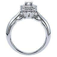 Devyn 14k White Gold Round Halo Engagement Ring angle 2