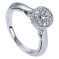 Devyn 14k White Gold Round Halo Engagement Ring angle 3