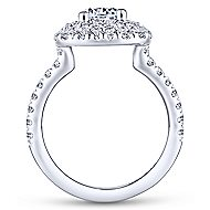 Diana 14k White Gold Round Double Halo Engagement Ring
