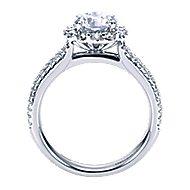 Dixie 14k White Gold Round Halo Engagement Ring angle 2