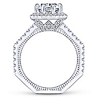 Donna 14k White Gold Round Halo Engagement Ring angle 2