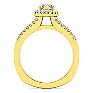 Drew 14k Yellow Gold Marquise  Halo Engagement Ring angle 2