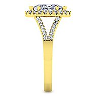 Drew 14k Yellow Gold Marquise  Halo Engagement Ring angle 5