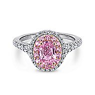 Elara 14k White And Rose Gold Oval Double Halo Engagement Ring angle 1