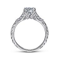 Elizabeth 18k White Gold Round Straight Engagement Ring angle 2
