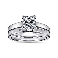 Enid 14k White Gold Princess Cut Solitaire Engagement Ring