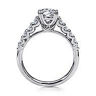 Eniko 18k White Gold Round Straight Engagement Ring angle 2