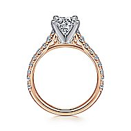 Erica 14k White And Rose Gold Round Straight Engagement Ring angle 2
