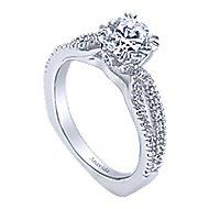 Erin 18k White Gold Round Split Shank Engagement Ring angle 3