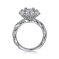 Evangelina 14k White Gold Cushion Cut Double Halo Engagement Ring angle 2